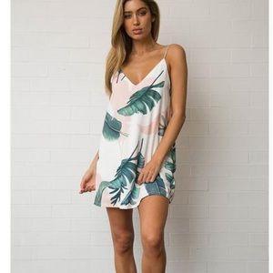 Dresses & Skirts - COMING SOON! Spaghetti Strap Palm Leaf Dress